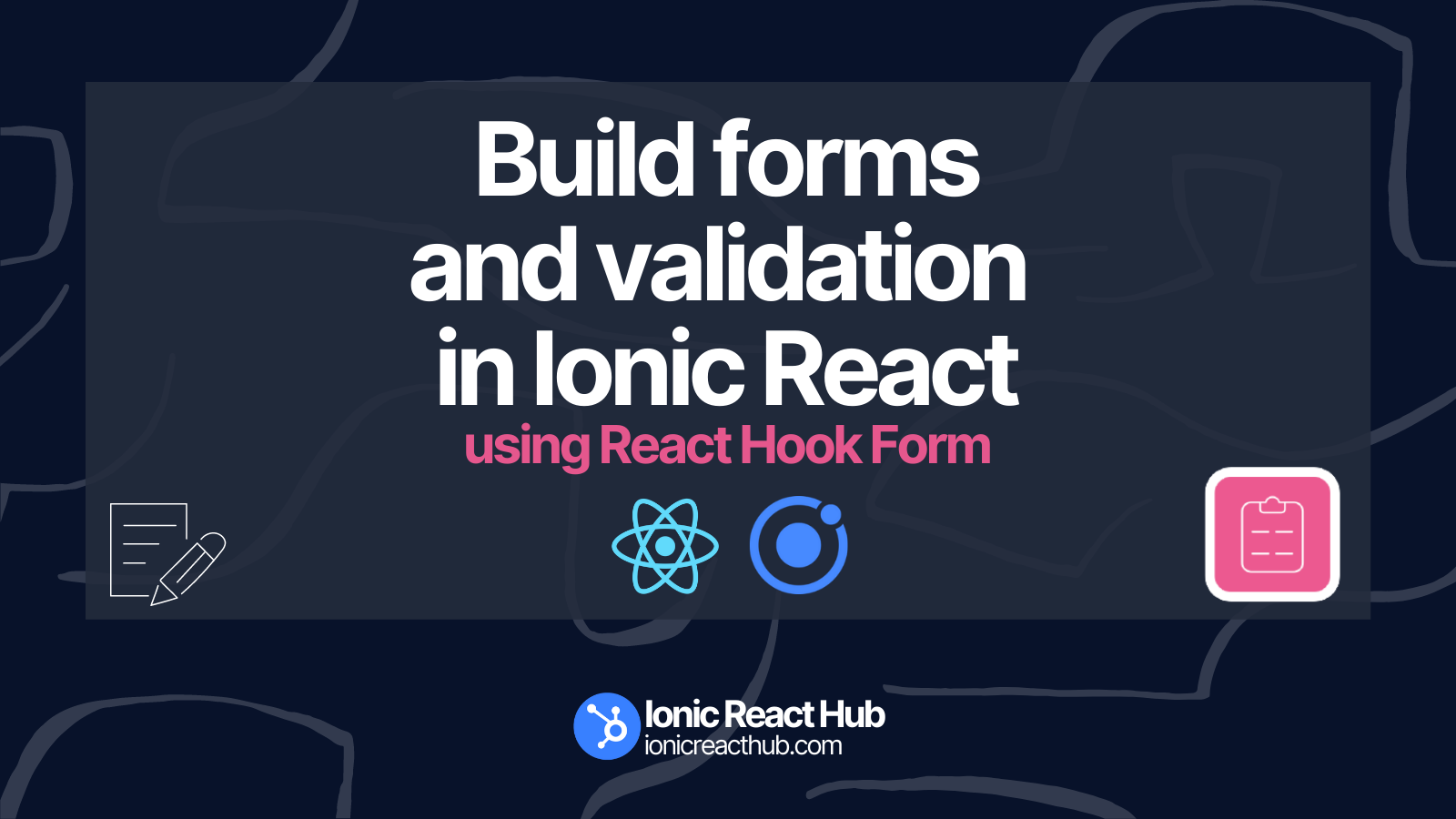 A really easy to use solution for building forms and validation in your Ionic React mobile apps.